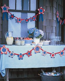 Red, White, and Blue Ribbon Stars - Martha Stewart Crafts