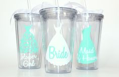 A personal favorite from my Etsy shop https://www.etsy.com/listing/239988305/set-of-3-personalized-bridal-party-gifts