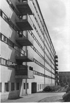 Ivan Nikolaev's housing-commune for the Textile Institute in Moscow, 1929-1930.