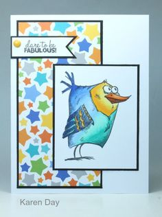 You may have seen me posting Crazy Birds cards over the past week... so here is the final one in the set. Scroll down to see all five toget...