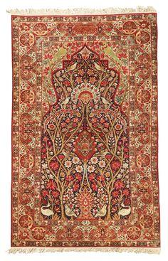 A Lavar Kirman prayer rug, Southeast Persia