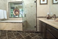 Dennett Tile and Stone - Showroom Granite Bathroom, Showroom, Tile, Mirror, Bathrooms, Santa, Inspire, Inspiration, Furniture