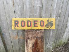 Hand Painted on wood (pine), Distressed Vintage Style Rodeo I can custom paint colors to match your decor. Shown is distressed Yellow with