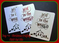 Free Cut File - Joy to the World - can be used for any cut media.  @terrijohnsoncreates.com