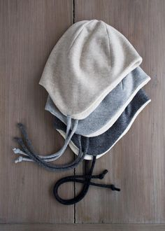 FREE pattern & tutorial to make a wool-cotton-sewn-ear-flap-hat…