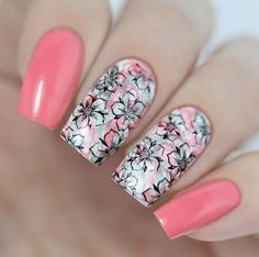classy nail designs to fall in love classy nails, gel nail designs, flo Classy Nail Designs, Pretty Nail Designs, Short Nail Designs, Nail Designs Spring, Spring Design, Classy Nails, Trendy Nails, Cute Nails, Simple Nails