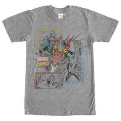 New Marvel Cast Squad Comic Book Vintage Heather Mens T-Shirt