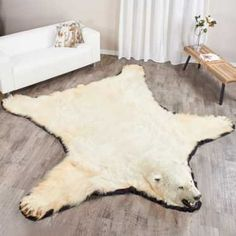 Our Polar Bear Rug mounts are commercially tanned by the best tanneries in Canada and mounted by professional taxidermists. We devote great time to make our polar bear skin rugs look alive. Animal Skin Rug, Animal Rug, Animal Heads, White Polar Bear, Black Bear, Bear Rug, Forest Nursery, We Bear, Bears
