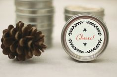 Handmade Holiday Organic Orange Cinnamon Herbal Tea or Clove Soy Candle