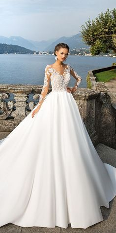 Cheap robe de mariage, Buy Quality bridal gown directly from China sexy wedding dress Suppliers: Vestidos De Novia Sexy Wedding Dress Plus Size 2017 IIIusion Back See Through Lace Bridal Gowns Robe De Mariage Dream Wedding Dresses, Bridal Dresses, Wedding Gowns, 2017 Wedding, Modest Wedding, Wedding Summer, Wedding Planner, Mila Nova Wedding Dress, Wedding Ceremony