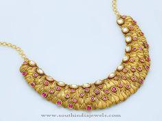 Designer Gold Choker Models, Designer Gold Choker Necklace Collections, 22K Gold Designer Chokers