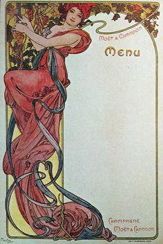 G1g Menus - Moet & Chandon, 1899.D
