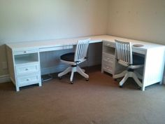 Corner 2 Person Desk With Drawers And Matching Rolling Chairs For Inside 2 Person Corner Desk Decorating
