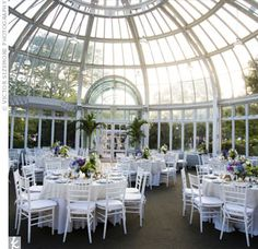 The Palm House at the Brooklyn Botanical Gardens Wedding