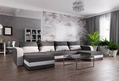 Rozkládací sedačka do U WELTA s úložným prostorem   Expedo.cz Sofa U Form, Sofas, Couch, Interior, Table, Designs, Furniture, Home Decor, Products