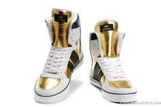 2011 New Supra High Top Men's Hip-Hop Shoe Gold/White/Black Fashion