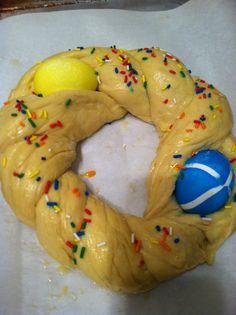 Italian Sweet Easter bread. (uncooked)