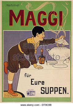Maggi for your soups, 1898. Artist: Wennerberg, Brynolf (1866-1950) - Stock Image