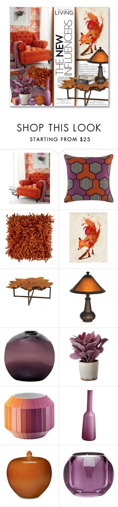 """""""Orange & Purple"""" by leanne-mcclean ❤ liked on Polyvore featuring interior, interiors, interior design, home, home decor, interior decorating, Haute House, Thomaspaul, Jonathan Adler and Monde Mosaic"""