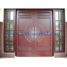 Tips Aman Saat Ditinggal Suami Tugas Luar Kota House Main Door Design, Front Door Design Wood, Door Design Interior, Wooden Door Design, Wooden Doors, Double Front Doors, Modern Front Door, External Doors, Iron Doors