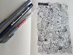 #Guali #Ilustraciones #HechoAMano #Flores #Doodles #Zentangle #Byeddingfan #Sketching #Art #Sketchbook