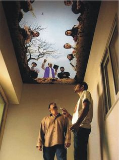 Creepy Ceiling Mural-I don't know why but I find this quite amusing to put in the bathroom