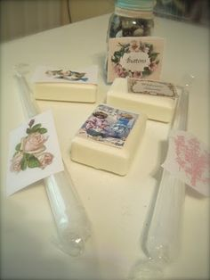 transfer images to candles, soap, glass, etc with waterslide decal paper