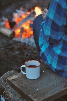 Campfire and a cup of strong coffee.