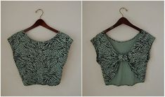 No directions, just an idea -- turn a t-shirt into a bolero, would be cute for little girl's spring dress.