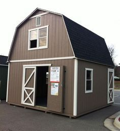 this is a 2 story shed i wish they delivered to ga this would be perfect for what im looking for and even looks like a little house pinterest - Storage Shed House