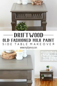 I love Old Fashioned Milk Paint. Here's a tutorial on how I accomplished the look I was going for with Driftwood Old Fashioned Milk Paint. Types Of Furniture, Furniture Projects, Furniture Making, Furniture Makeover, Cool Furniture, Painted Furniture, Refinished Furniture, Diy Projects, Home Crafts
