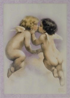 Bessie Pease Gutmann. Kissing Angels