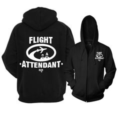 Express yourself with this design. Show your passion as a flight attendant. This warm well fitted full zip reflective hoodie with zipper pockets is the perfect way to showcase your passion and be seen