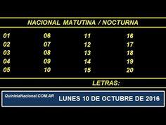 Quiniela - El Video oficial de la Quiniela Matutina & Nocturna Nacional del día Lunes 10 de Octubre de 2016. Info: www.quinielanacional.com.ar