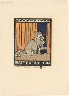 Elizabeth Norton (American, 1887–1985). Little Grey Cat, 1926. The Metropolitan Museum of Art, New York. Gift of Elizabeth Norton, 1928 (28.63.1) #cats