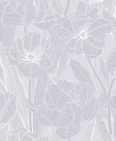 Jolie Grey wallpaper by Vallila