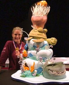 Mel I know you could do this.. Robbie would love this!!! Little Nemo Cake from Food Network's Challenge
