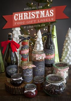 Printable Labels for Your Edible Christmas Gifts | Lia Griffith. Those labels are gorgeous!!!
