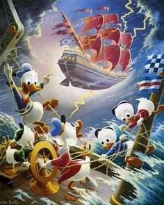 Donald Duck and Uncle Scrooge - Afoul of the Flying Dutchman by Carl Barks