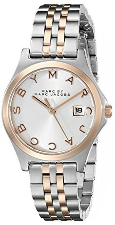 Just arrived Marc by Marc Jacobs Women's MBM3353 Slim Two-Tone Stainless Steel Watch with Link Bracelet