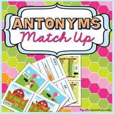 A Forever Freebie! 42 pairs of illustrated antonym cards for Pre-K - 2nd.