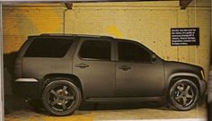 Rob Dyrdek Murdered-Out Chevy Tahoe Sideshot.... Absolutely love this..