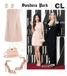 """Sandara Park with CL for W Korea Charity Event"" by brunettediary ❤ liked on Polyvore featuring Fendi, Kenneth Jay Lane, Manolo Blahnik, Bling Jewelry and Pippa Small"