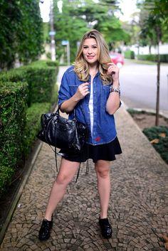 Look do dia: camisa jeans + saia — Niina Secrets