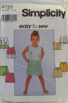 Simplicity 8723 Child's Top and Shorts