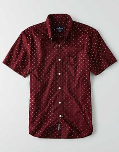 Dot Print Short Sleeve Shirt
