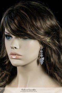 LIANN MARQUISE CLUSTER DANGLE CHANDELIER EARRINGS | 8 Carat | Cubic Zirconia