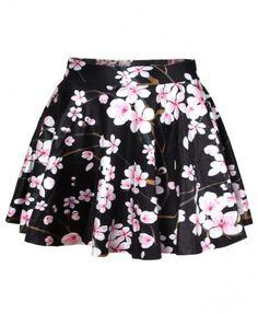 Sakura Printed Mini Skirt