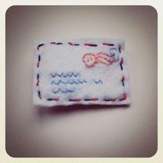 Schreib mal wieder - Filz Umschlag / Felt Envelope