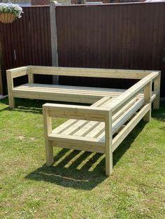 Wooden Garden Furniture, Outdoor Furniture Plans, Homemade Outdoor Furniture, Painting Outdoor Wood Furniture, Wooden Garden Seats, Deck Furniture, Outdoor Lounge, Outdoor Couch, Outdoor Living